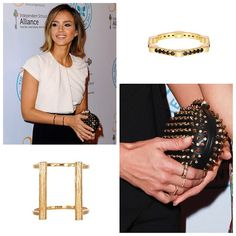 The always elegant Jessica Alba at the #IndependentSchoolAlliance for Minority Affairs Impact Awards, honoring @dazzlemira and #brianlee.  Jessica is wearing our Long Slim Bond Cuff and #stackable Diamond Cage Bands - styled by @emilyandmeritt ✨  #jessicaalba #charity #emilyandmeritt #radiance #style #slim #bond #cuffs #rings #blackdiamonds #bracelets #jewelry #madeinLA #rachelkatzjewelry  Shop it now on www.rachelkatzjewelry.com