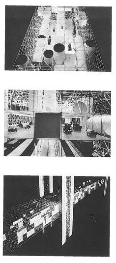 Eckhard Schulze-Fielitz & Yona Friedman - Projekt til bybro over den engelske kanal, ca. 1960 Architecture Student, Architecture Design, Space Truss, Yona Friedman, Guy Debord, Student Problems, Temporary Structures, Scaffolding, Design Museum
