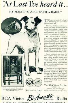 RCA Victor Big Acoustic Radio advert 1932 78 Records, Vintage Records, Vinyl Records, Vintage Advertisements, Vintage Ads, Radios, Music Machine, Antique Radio, Rare Vinyl