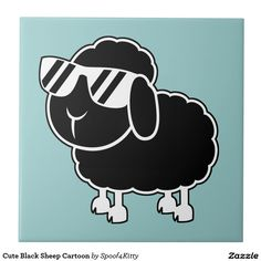Shop Cute Black Sheep Cartoon Ceramic Tile created by Personalize it with photos & text or purchase as is! Sheep Cartoon, Cute Cartoon, Black Sheep Tattoo, Sheep Silhouette, Avatar Tattoo, Sheep Logo, Wallpaper Notebook, Sheep Art, Cute Sheep