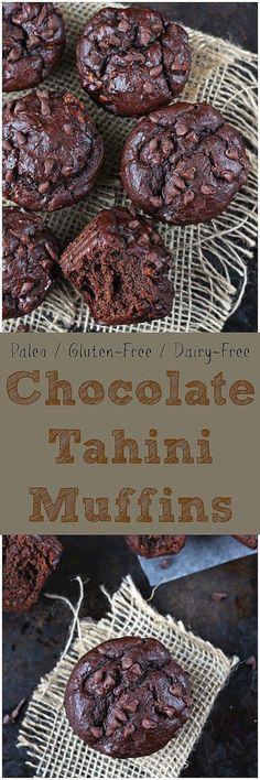 Chocolate Tahini Muffins [paleo / gluten-free / dairy-free]