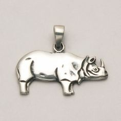 Flat Rhino Pendant at theBIGzoo.com, a toy store featuring 3,000+ stuffed animals.