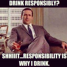 Drink responsibly ;) ;) ;) #drinks #madman