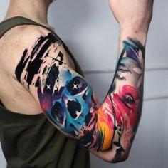 World Famous Tattoo Ink, Famous Tattoos, Tattoo Artists, Cool Tattoos, Watercolor Tattoo, Coolest Tattoo, Temp Tattoo, Nice Tattoos