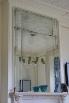 Art Deco style overmantle mirror by Mirrorworks UK