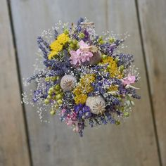 Dried flowers bouquet, lavender Dried Flower Bouquet, Dried Flowers, Lavender, Floral Wreath, Wreaths, Ideas, Decor, Flower Preservation, Floral Crown