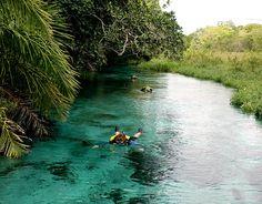 Centro-Oeste  Rio Olho d'Água, Mato Grosso do Sul  A região de Bonito tem maravilhas naturais incomparáveis como o rio Olho d'Água. A 50 km do centro da cidade, o rio de água cristalina desemboca no Rio da Prata e tem numerosos peixes acostumados à presença de humanos e que, por isso, podem ser observados bem de perto.    Foto: Visit Brasil/Divulgação  http://www.terra.com.br/turismo/infograficos/100-paisagens-do-brasil/