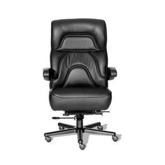 ERA Products Office Chairs Comfort Plus+ Series Chairman Leather/Leathermate Vinyl High Back Executive Chair