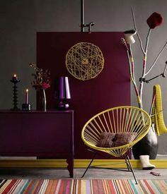 marsala pantone color of the year 2015 interior decor design ideas Funky Home Decor, Colorful Decor, Diy Home Decor, Modern Living Room Colors, Living Room Designs, Home Interior, Interior Design, Yellow Interior, Room Wall Colors