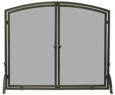 UniFlame Single Panel Bronze Fireplace Screen with Doors