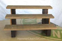 They are going to participate in local farmers' markets and were in need of a display table, shelves and pricing sign for their booth. Description from hammerlikeagirl.wordpress.com. I searched for this on bing.com/images