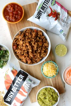 How to Make Healthy Walking Tacos - Up your walking taco game with my favorite Way Better Snacks, lean ground turkey taco meat, and a delicious kale slaw topped with all of your favorite fixings! Healthy Tacos, Easy Healthy Recipes, Easy Meals, Healthy Dinners, Chicken Zucchini Casserole, Clean Eating, Healthy Eating, Healthy Food, Dinners Under 500 Calories