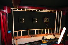 Another really great device we installed was a D-BOX motion platform that vibrates th . New Home Theatre, Home Theater Setup, Home Theater Speakers, Home Theater Projectors, Home Theater Seating, Home Theater Design, Audio Speakers, Movie Theater Rooms, Cinema Room