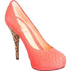 Fendi Superstar pump in coral. AH. What a perfect shoe.