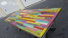 Heavy-duty Pallet Kaleidoscope Dining Table Other Pallet ProjectsPallet Desks & Pallet Tables
