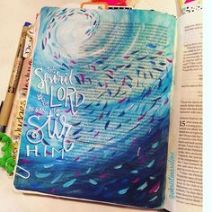 Bible Journaling by Christina Lowery @christinasalive | Judges 13-14