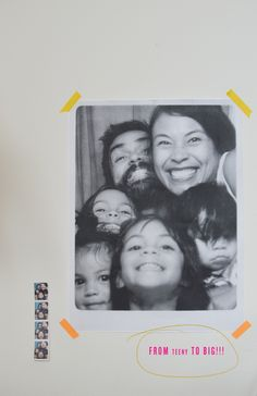 teeny photobooth strip to BIG family picture!