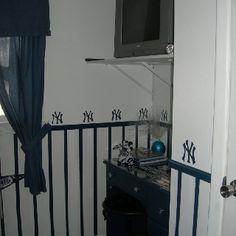 bedroom super fan new york yankees baseball diy bedroom decor