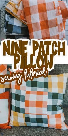 Sew a quilted nine patch fall pillow with this tutorial. Decorative throw pillows are easy to sew with these tips and details. Create home decor with these beautiful fall pillows and easy sewing tutorial. via @lifesewsavory Modern Sewing Projects, Diy Craft Projects, Fall Pillows, Decorative Throw Pillows, Sew Your Own Clothes, Sewing Tutorials, Sewing Crafts, Fall Sewing, Nine Patch