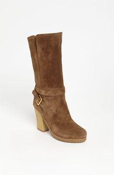 Prada mid buckle boot