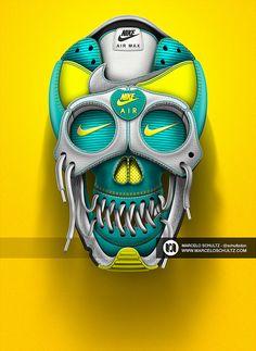 Nike Artworks by Marcelo Schultz | Inspiration Grid | Design Inspiration