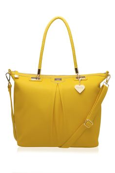 marc b hudson tote in yellow