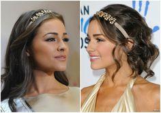 Olivia Culpo (Miss Univers) : 1 headband / 2 styles.