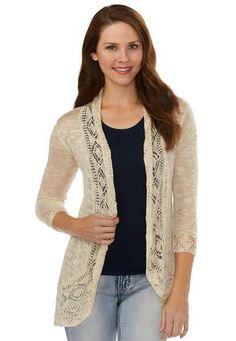 bbcf3214e4bc Cato Fashions Pointelle Trim Cardigan  CatoFashions Cardigan Sweaters