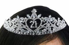 """21"" - 21st Birthday Crown -Genuine Austrian Crystal"