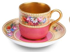 Royal Worcester Tea And Crumpets, Pink Cups, China Tea Sets, Chocolate Cups, Tea Service, Vintage Tea, Afternoon Tea, Cup And Saucer, Tea Time