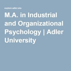 What should I major in to be a industrial/organizational psychologist?