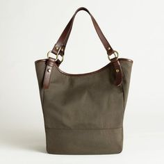 what do you think about this J.Crew Factory waxed canvas tote