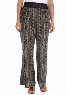Living Doll  Plus Size Vertical Print Palazzo Pant