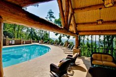 Beautiful Ridge-Top Outdoor Swimming Pool at Echota on The Ridge.   www.FoscoeRentals.com