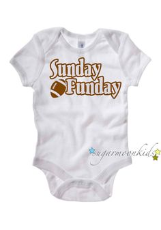 Football Baby Onesie by sugarmoonkids on Etsy, $17.00