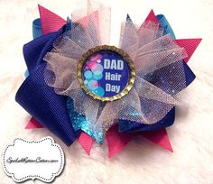 http://www.facebook.com/pages/Spoiled-Rotten-Cotton-Boutique/132728380133473  Dad Hair Day I love funny bows :)