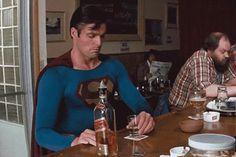 Superman drinks whisky