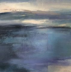 """Daily Painters Abstract Gallery: Contemporary Abstract Landscape Painting """"Meditation"""" by Intuitive Artist Joan Fullerton"""