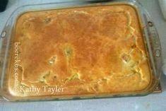 Slap oorgooi deeg ~ vir pasteie, die is die lekkerste pastei kors ! Pastry Recipes, Meat Recipes, Baking Recipes, Dessert Recipes, Tripe Recipes, Desserts, Yummy Recipes, Kos, Biltong