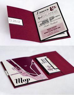 Destination wedding invitation booklets