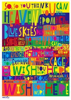 LyricArt: Pink Floyd Wish You Were Here by RocknRollLyricArt