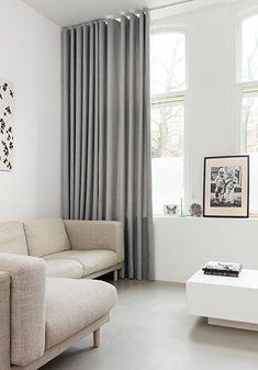 Unusual Home Curtain Ideas For Interior Design - Aksa. Dining Room Curtains, Home Curtains, Ceiling Curtains, Home Room Design, Decor Interior Design, Curtains For Bifold Doors, Farmhouse Interior, Apartment Design, Living Room Bedroom