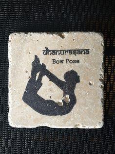 Bow Pose Stone Coaster #YogaCoaster