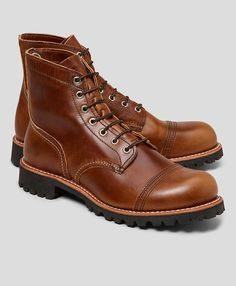 Red Wing Iron Ranger Boots, from Brooks Brothers -- all they need is a couple of red laces on them!
