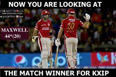Glenn Maxwell onslaught leads rout of Pune #KXIPvRPS #IPL2017 For more cricket fun click: http://ift.tt/2gY9BIZ - http://ift.tt/1ZZ3e4d