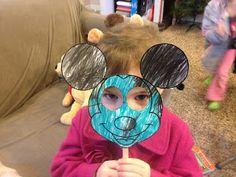 Mickey & Minnie Mouse Masks free printable on blog