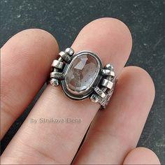 Strukova Elena - copyrights jewelry - ring with aquamarine