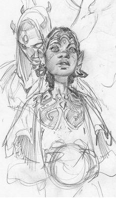 Sketchbook Drawings, Art Sketches, Art Drawings, Art Anime, Sketchbook Inspiration, Character Design Inspiration, Art Inspo, Art Reference, Comic Art