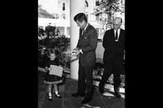 President John F. Kennedy is visited by the Christmas Seals Poster Child, November 11, 1962. (Courtesy of White House Photographs, John F. Kennedy Presidential Library and Museum, Boston)