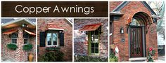 Metal Awnings - Copper - Bronze - Steel - Design Your Awning Copper Awning, Metal Awning, Canvas Awnings, Copper House, Fabric Awning, House Trim, Lawn And Landscape, Window Awnings, Shed Roof